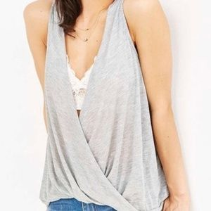 Urban Outfitters Gray Enveloped Tank Top